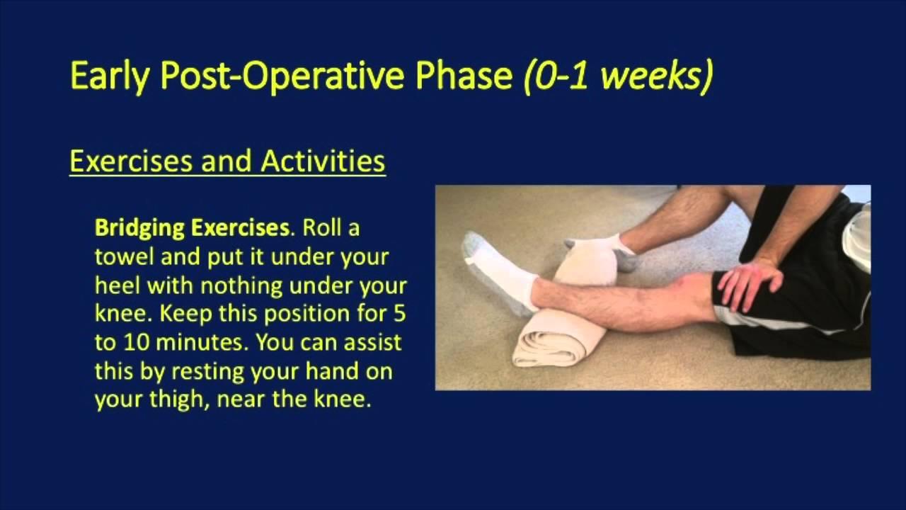 Knee Partial Meniscectomy - Post Operative Rehabilitation Protocol