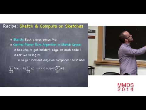 Analyzing Big Graphs via Sketching and Streaming; Andrew McGregor