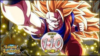 I'M NOT DONE YET! LEVEL 110 OF SSJ3 GOKU'S EXTREME Z AWAKENING EVENT! (DBZ: Dokkan Battle)