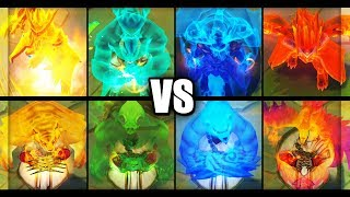 Dragon Oracle Udyr vs Spirit Guard Udyr Ultimate Skin Comparison (League of Legends)