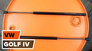 Hur och när byter man Gasdämpare baklucka VW GOLF IV (1J1): videohandledning