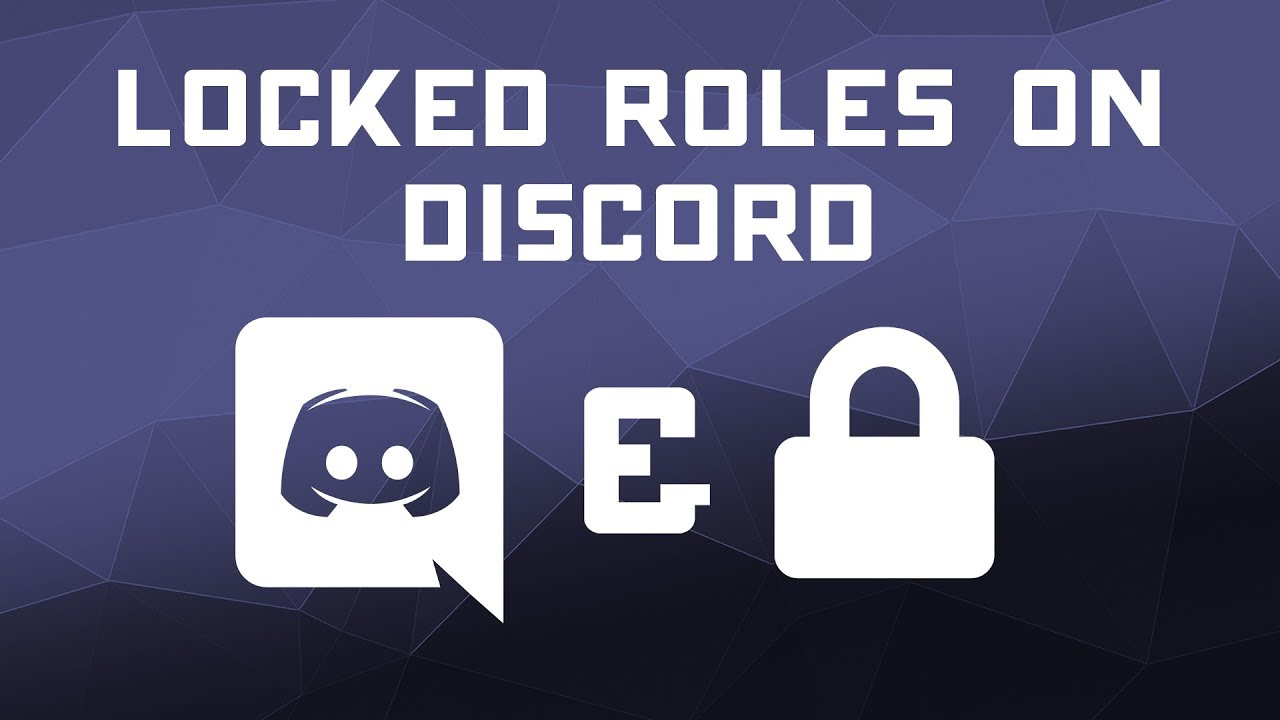 Locked Roles in Discord Voice Chat - Server Permissions Tutorial