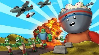 Roblox Tower Battles - NUCLEAR BOMB MELTS ZOMBIES! (Tower Battles)
