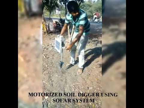 Download MOTORIZED SOIL DIGGER USING SOLAR SYSTEM  #temspace #mechanicalproducts #electronicsproducts