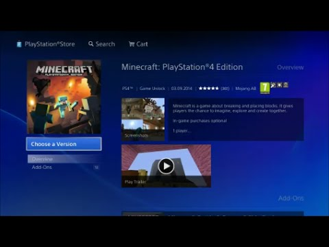 Minecraft Playstation 4 Edition Available for Download on the PSN Store NOW!