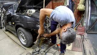 Ваз 2114 Замена телевизора и ремонт брызговико   усилителей