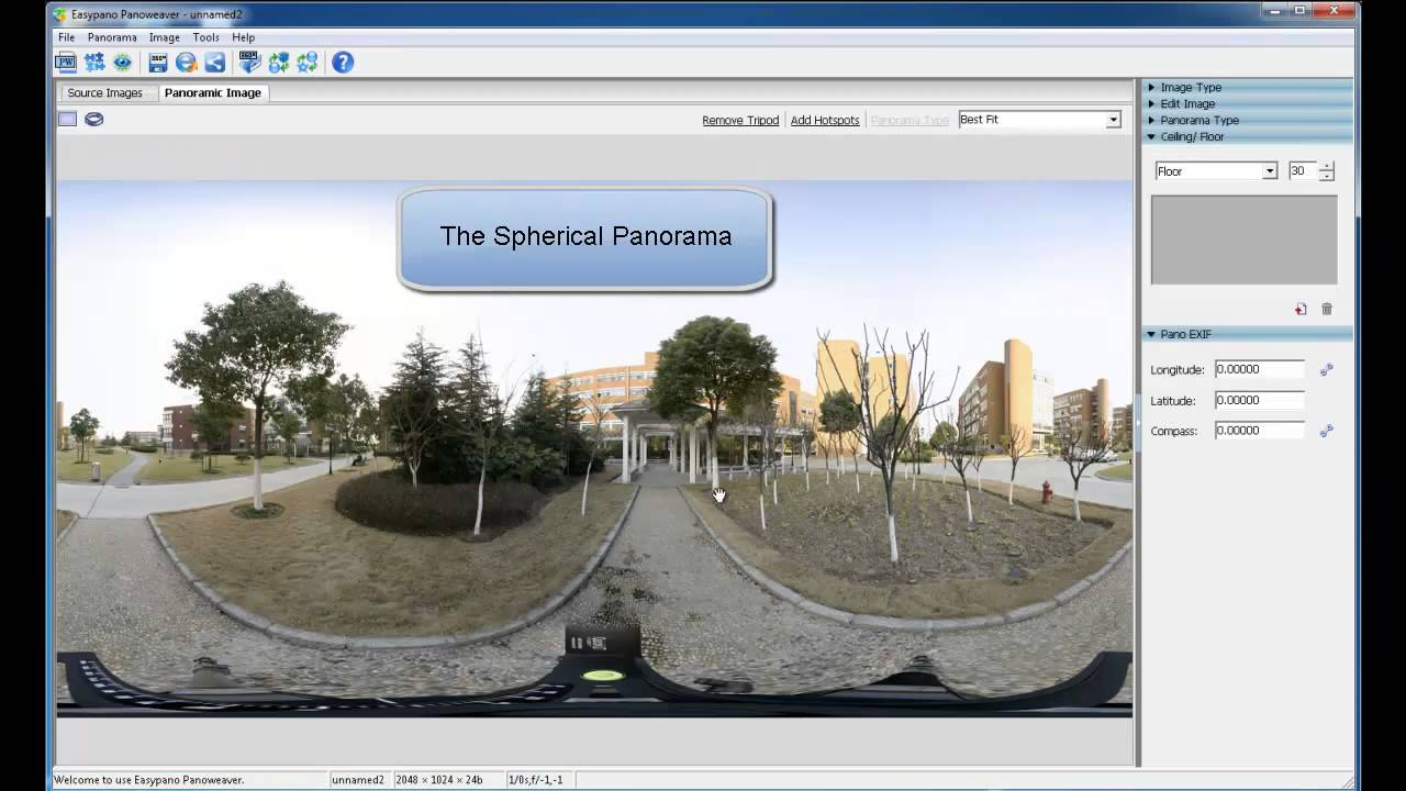 How to Convert Spherical Panorama into Cubic Panorama -panoramic software  instruction