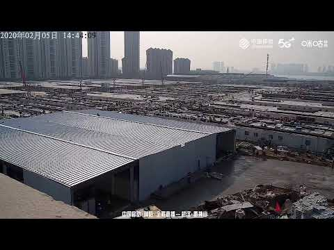 LIVE: Leishenshan Hospital near completion in Wuhan, China
