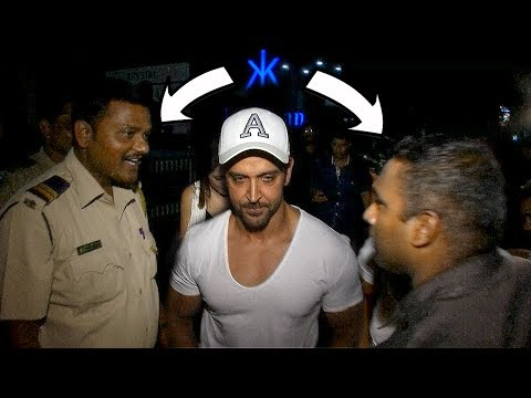 Hrithik Roshan's Bodyguard MISBEHAVES with Mumbai Police  Watch Video