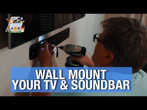 How To Wall Mount A TV And Soundbar And HIDE All The Wires | HANDYGUYS TV
