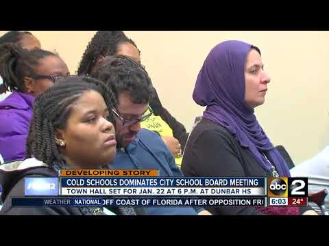 Frigid schools lead to heated Baltimore City Public School Board meeting