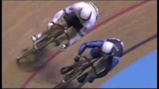Jason Kenny Takes a Tumble; Track Cycling Crash