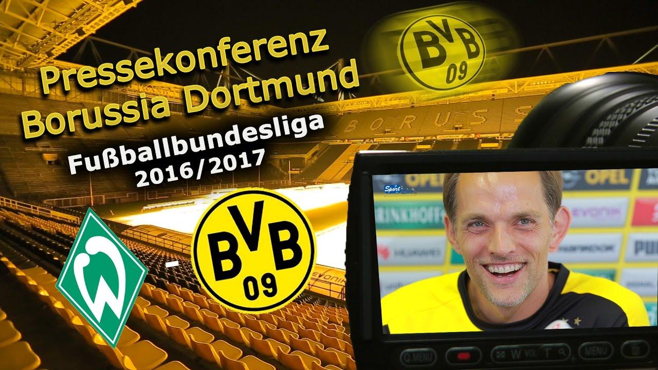 SV Werder Bremen - Borussia Dortmund: Pk mit Thomas Tuchel