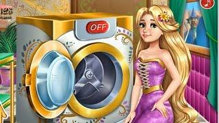 NEW Игры для детей—Disney Принцесса рапунцель стирка—Мультик Онлайн видео игры для девочек