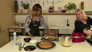 Recipe: Rhubarb, Raspberry & Frangipani Tart by Kate George
