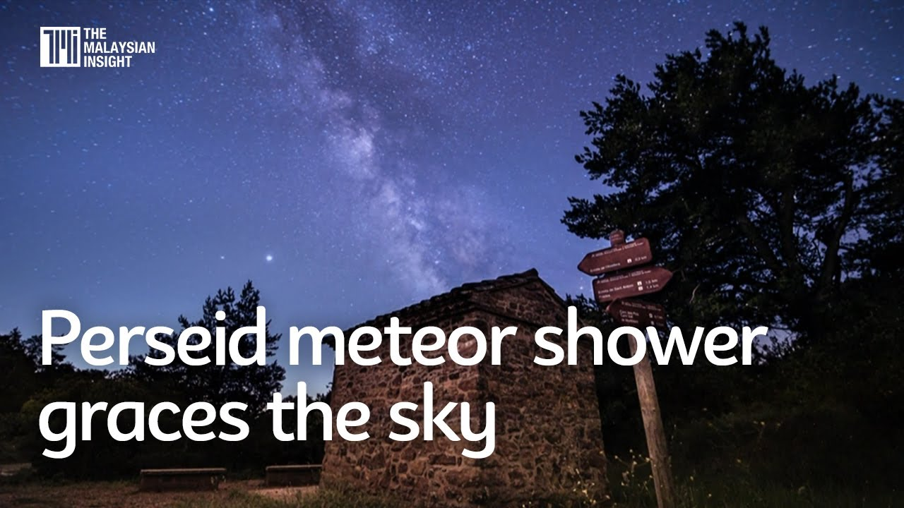 Perseid meteor shower graces the sky