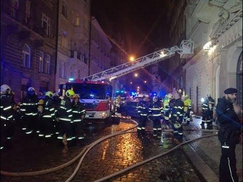 BREAKING : Fire at City Cente hotel in #Prague, At least 2 dead, dozens injured, evacuation underway