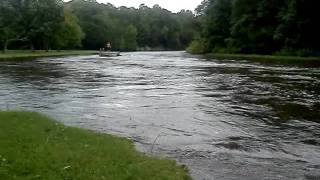 Hackettstown NJ flood the river sandbarpark