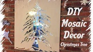 DIY Mosaic Christmas Tree | Holiday Decor Idea!