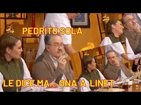 Pedrito Sola le dice ma... a Linet