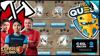 Giant Match up! Tribe Gaming vs Team Queso Epic War! | Clash of Clans