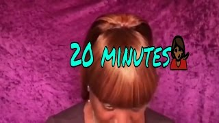 Quick 20 minute Chinese bang with ponytail