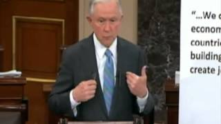 Senator Jeff Sessions Comments on Fast Track Free Trade Deals Free HD Video