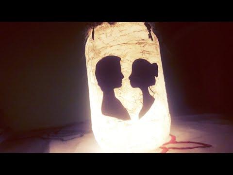 DIY: Easy Lantern Jar Tutorial || ❤ Fairy Glow Jar / Couple Glow Jar || Light Jar with Tissue Paper