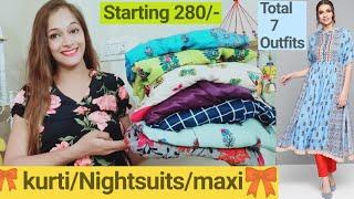 Maternity wear Pregnancy wear Feeding Wear Designer kurti Night suit Maxi haul myntra