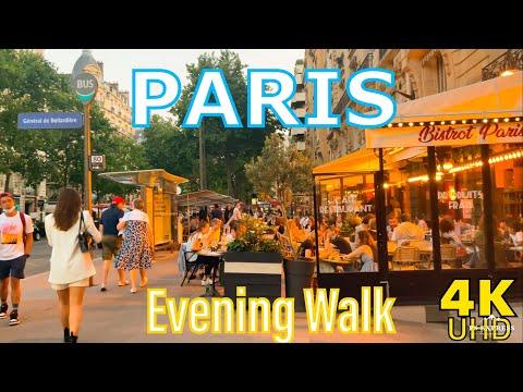 Paris evening walk 2021   Paris 4K  A walk in  Invilides   A walk in Paris