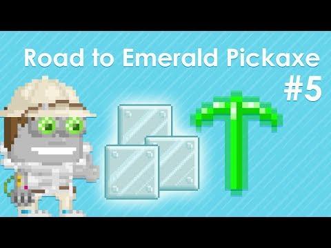 ROAD TO EMERALD PICKAXE #5 | Steel Blocks! | Growtopia