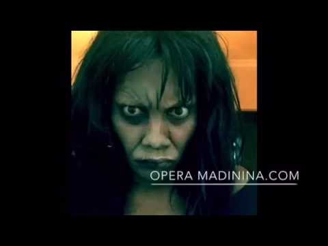 Halloween character make-up: Samara from The Ring. Power of make-up