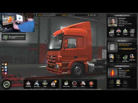 Euro Truck Simulator 2 With G920 Steering Wheel + Webcam (Live Streaming)#2