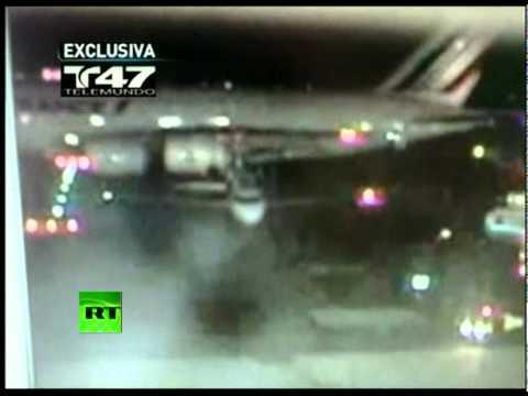 תאונה בשדה תעופה בניו יורק