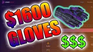 BETTING MY $1600 GLOVES ON CSGOMAGIC!!!