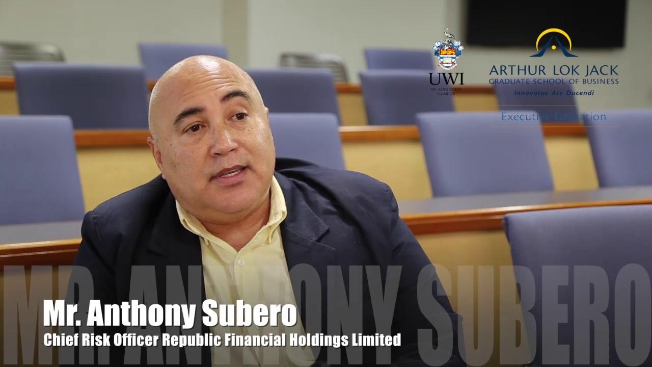 Professional Certificate in Enterprise Risk Management: Mr  Anthony Subero