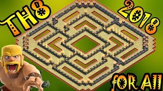 ULTIMATE Town Hall 8 (TH8) For All 2018!! New BEST Th8 Base Design [Defense] - Clash of Clans