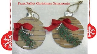 Faux Pallet Christmas Ornaments From Household Items Youtube