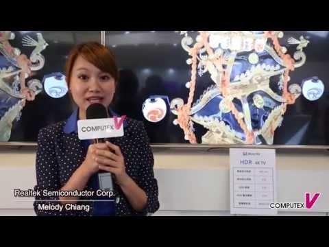【2015 COMPUTEX TAIPEI】Realtek HDR 4K TV &  CODEC