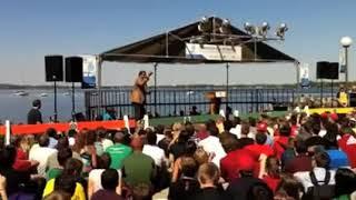 Neil deGrasse Tyson speaking at UW Madison