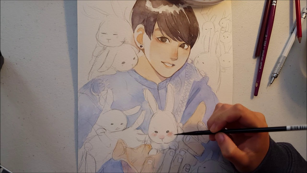 Drawing Anime Bts Jungkook Pictures Manhwa