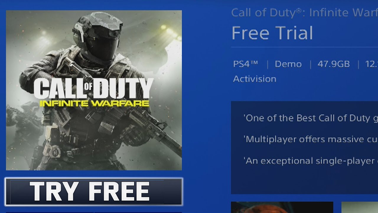 Try Infinite Warfare Free On The Ps4 And Xbox One Limited Edition Trial Version Youtube