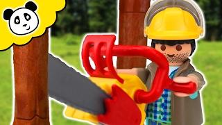 ⭕ PLAYMOBIL ABENTEUER - Holzfäller vom Baum erschlagen - Pandido TV