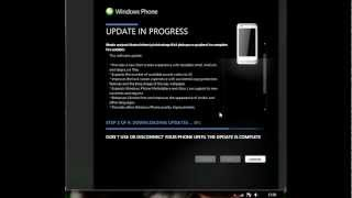 How to force update windows phone 7.5 to 7.8 using Zune!
