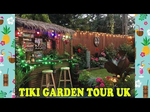 Tropical Tiki Garden Tour UK! Garden Makeover