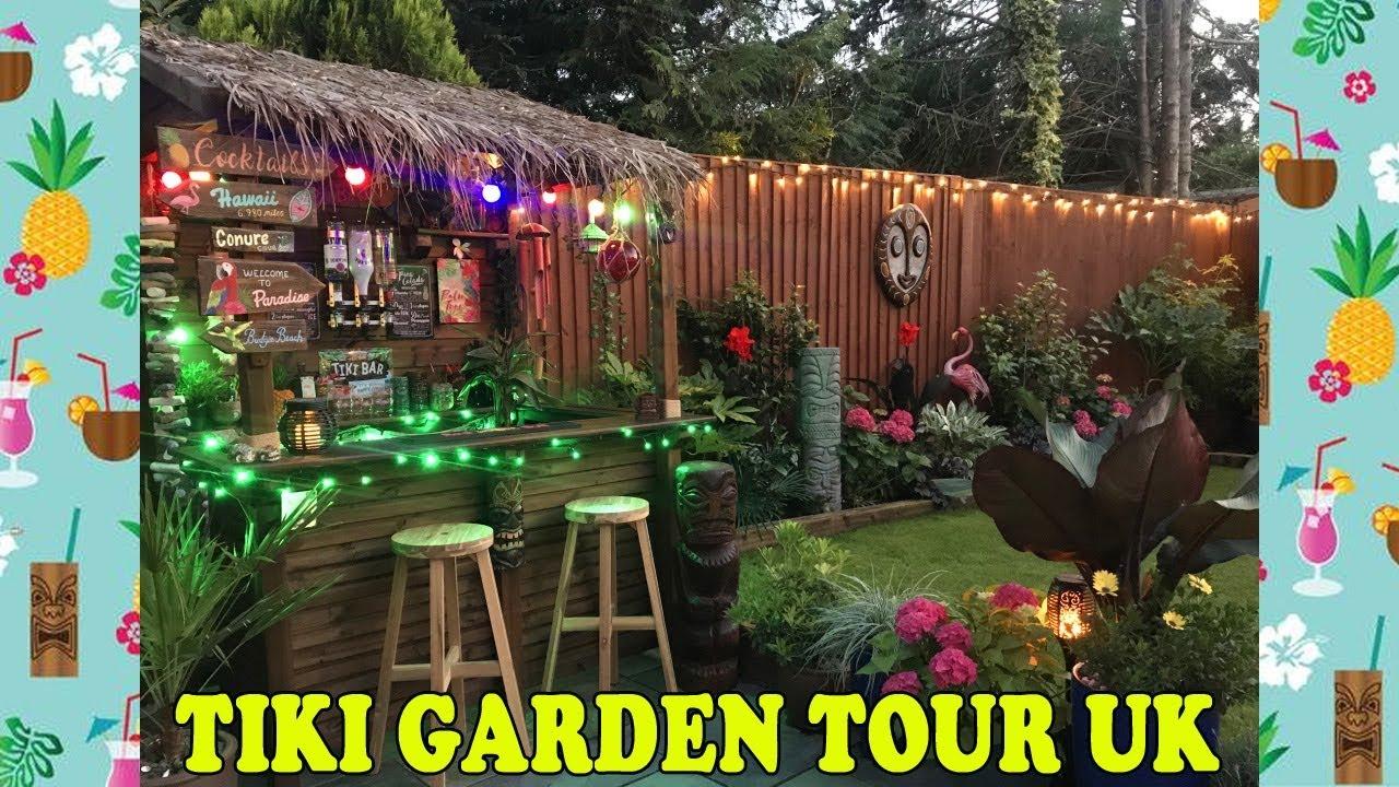 Tropical Tiki Garden Tour Uk Garden Makeover Youtube