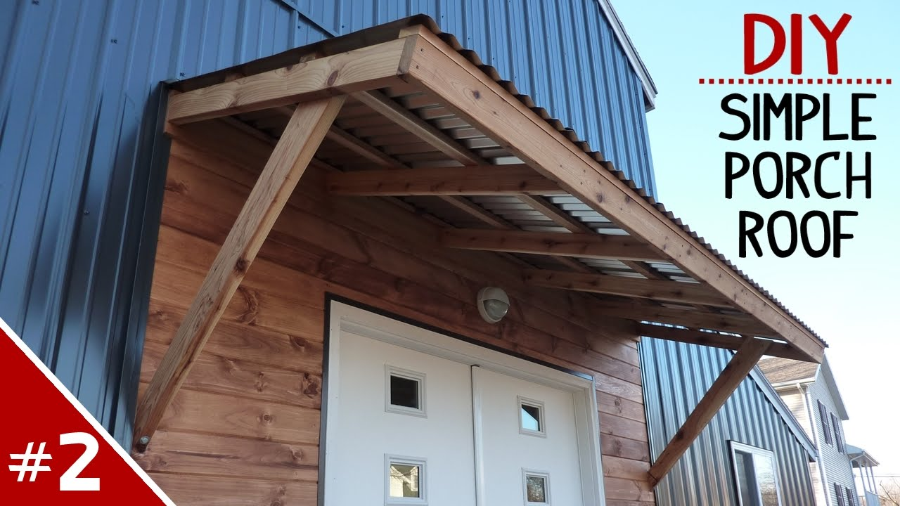 How to Build a Clean 'n Simple Porch Roof - Part 2 of 2 ...