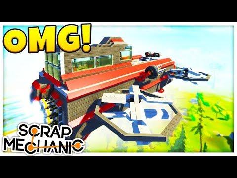 CASTLE JAILBREAK! - Cops & Robbers Challenge - Scrap Mechanic Multiplayer Gameplay