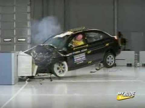 Crash Test 2007 Hyundai Accent Kia Rio