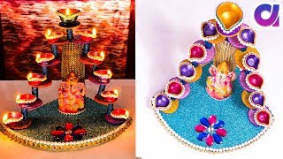 Diya stand from plastic bottle/candle stand | Best out of waste | Artkala